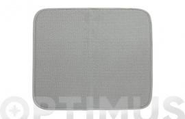TAPETE ESCURRIDOR MICROFIBRA XL GRIS  45 X 60 CM