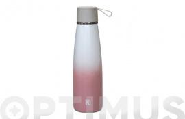 BOTELLA TERMO INOX ROSA 500 ML