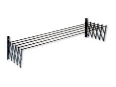 TENDEDERO EXTENSIBLE PLASTIFICADA RESINA GRIS 120 CM