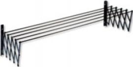 TENDEDERO EXTENSIBLE PLASTIFICADA RESINA GRIS 140 CM